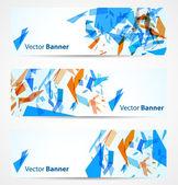 Bannières abstraites — Vecteur
