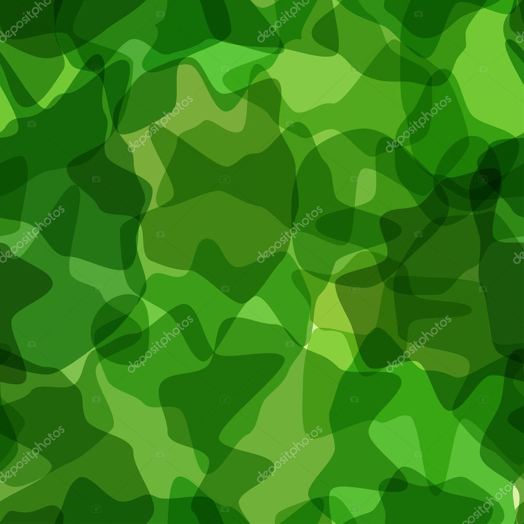 Seamless pattern green camouflage. Vector illustration — Stock Vector #10703474