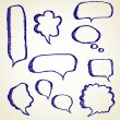 Hand draw speech bubbles set — Stock Vector