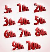 Sale percents. Vector — Stock Vector