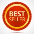 Best seller, red label, vector — Stock Vector