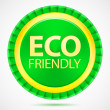Royalty-Free Stock Vector Image: Eco friendly, green label, vector