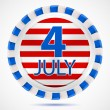 Stock Vector: 4th July label, vector