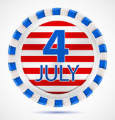 4th July label, vector — Stock Vector