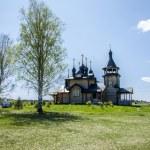Wooden orthodox church — Stock Photo #10647177