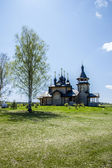 Wooden orthodox church — Foto Stock