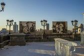 Tempel på blod i yekaterinburg — Stockfoto