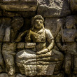 Stock Photo: Buddhist relief in Borobodur temple