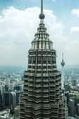 Top of Petronas tower — Stock Photo