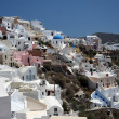 View of Fira town - Santorini - Stock Photo
