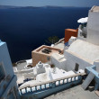 Foto Stock: View of Santorini island Greece