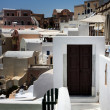 Santorini, traditional cycladic architecture — Stock Photo