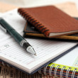 Business still life with a pen — Stock Photo #7987814