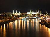 Night panorama of Moscow — Stock Photo
