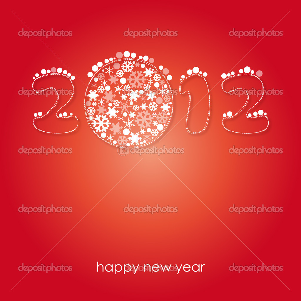 Happy new year 2012 card — Stock Vector #8710836