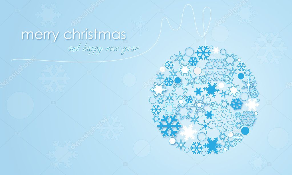 Vector christmas ball — Stock Vector #8710883