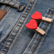 Hearts pop out of his pocket jeans — Stok fotoğraf