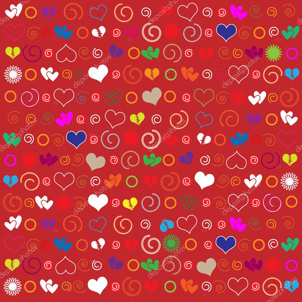 Vector valentine background with heart — Stock Vector #8939723