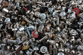Computer screws, bolts and nuts — Stock Photo