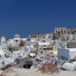 Summer view of oia. santorini. greece. — Zdjęcie stockowe