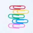 Color paper clips — Stock Photo #8002482