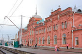 Railway station of a city of Kazan in Russia — Stock Photo