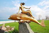 "Sculpture ""the Girl on a dolphin"", the city of Novorossisk, — Stock Photo"