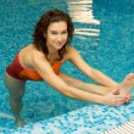 Woman in aqua gymnastics — Stock Photo