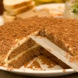 Stock Photo: Pie with chocolate crumb