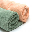 Two towels braided on the white — Stock Photo #7983073
