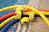 Water aerobics equipment — Stock Photo