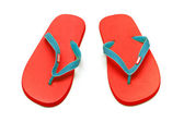 Red sandals isolated — Stock Photo