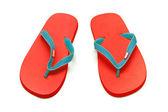 Czerwony sandały na białym tle — Zdjęcie stockowe