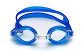 Blue glasses for swim on white background — Stock Photo