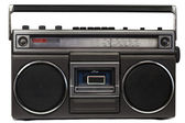 Cassette deck with radio and recorder — Stock Photo
