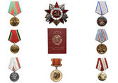 Medals and Passport — Stock Photo