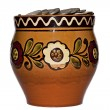 Clay pot with coins — Stock Photo #8910623
