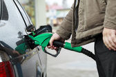 Refilling Car at Gas Station — Stock Photo