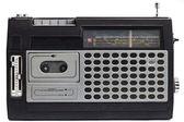 Old radio with antenna — Stock Photo