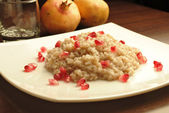 Pomegranates rice — Stock Photo