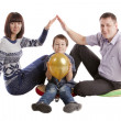 Family posing — Stock Photo #9944955
