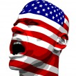 USA Flag Man Yelling — Stock Photo