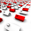 Hundreds of Houses, Some Red — Stock Photo #7968016