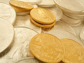 Gold and Silver U.S. Bullion Coins — Stock Photo