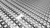 Lots of Cars, One Missing — Stock Photo