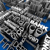 Financial Words 3D — Stock Photo