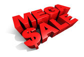 Mega Sale 3D Graphic Text — Stock Photo