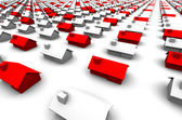 Hundreds of Houses, Some Red — Stock Photo