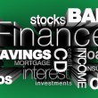 Stock Photo: Financial Words 3D