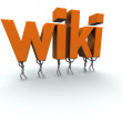 "Team of Carrying the Word ""wiki\"" — Stock Photo"